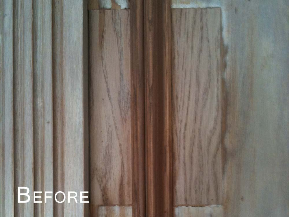Wood repair Before